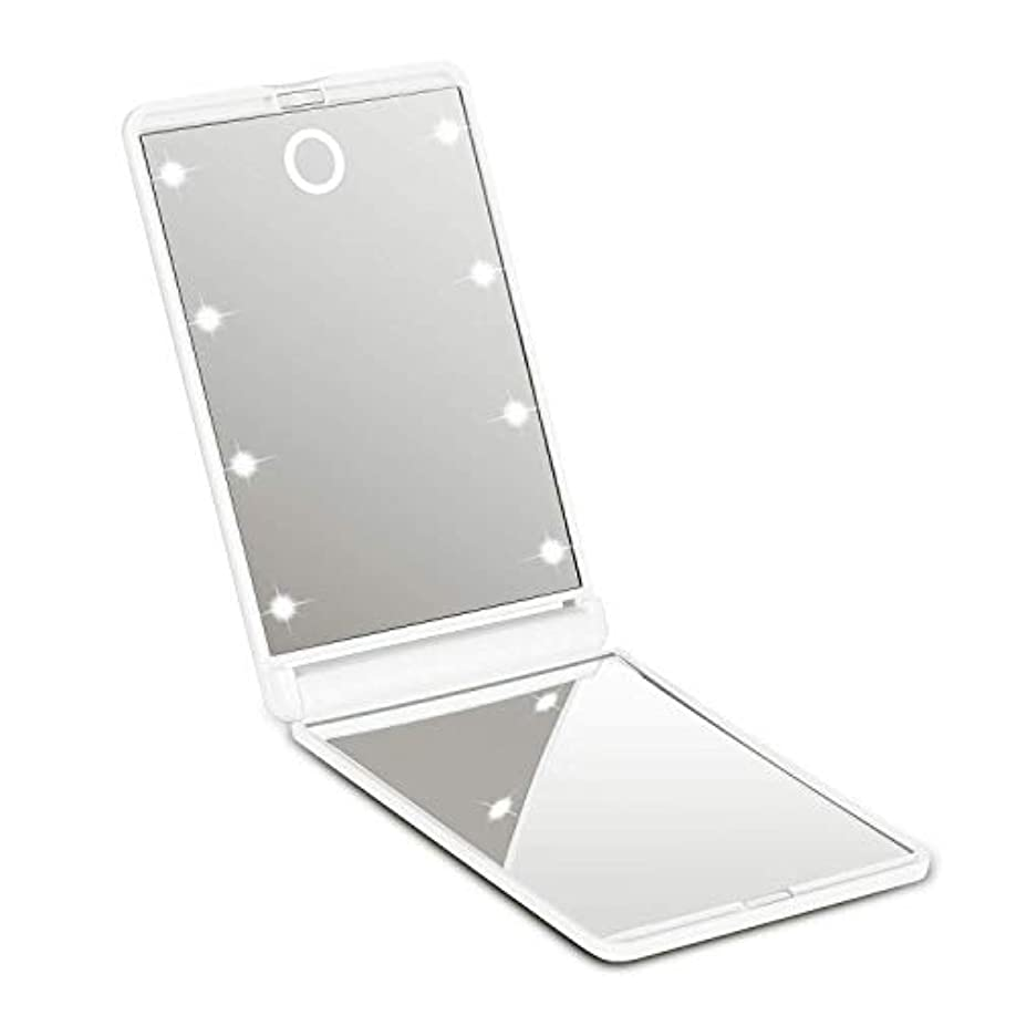 プールケープ集まる?化粧鏡 ledミラー 8灯 携帯型 持ち運び便利 折りたたみ式 コンパクト 化粧ミラー 女優ミラー 拡大鏡付き手鏡 可能なスタンドミラー2倍拡大鏡付 明るさ調節可能