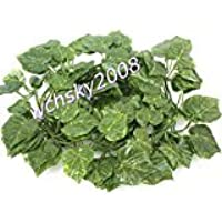 Zehui人工アイビーGarlandsシルクPlant Leaves Vineウェディングクリスマスフェスティバルパーティー80インチ1pcs