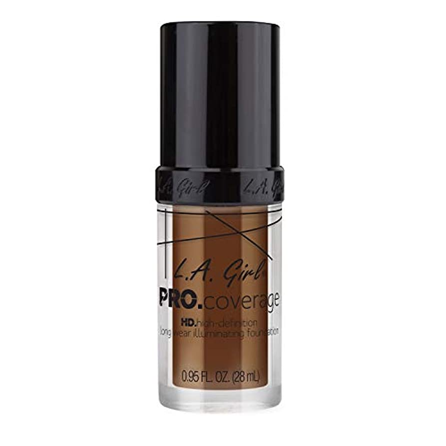 赤面お気に入り封筒L.A. Girl Pro Coverage Illuminating Foundation - Rich Cocoa (並行輸入品)