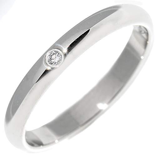 [カルティエ]Cartier Pt950 ダイヤ1P(0.01ct) クラシックウェディングリング(1895ウェディングリング)(幅2.6ミリ) 指輪 #50(10号) B40577 中古