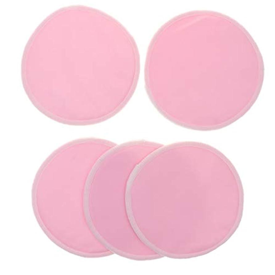ワイド抹消傾くB Blesiya 12cm 胸パッド クレンジングシート 化粧水パッド 竹繊維 円形 洗える 通気性 5個 全5色 - ピンク