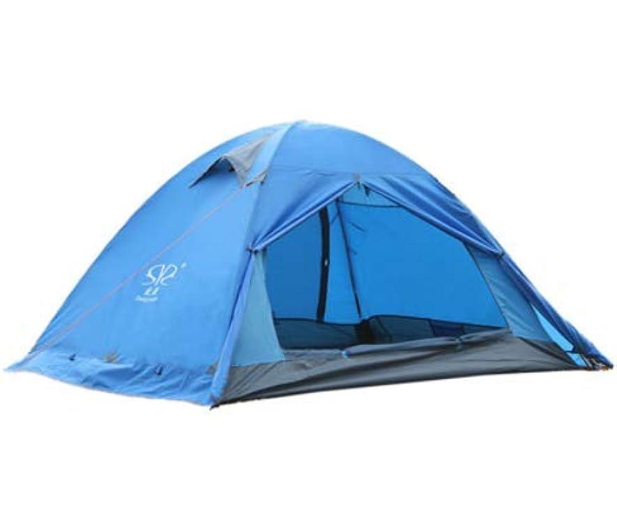 サークルクライマックス限りなくOkiiting 防爆防風日焼け止め防水キャンプハイキングテント屋外スーパーライトダブルダブルポールアルミポールテント2人ビーチテントキャンプテント釣りテント うまく設計された