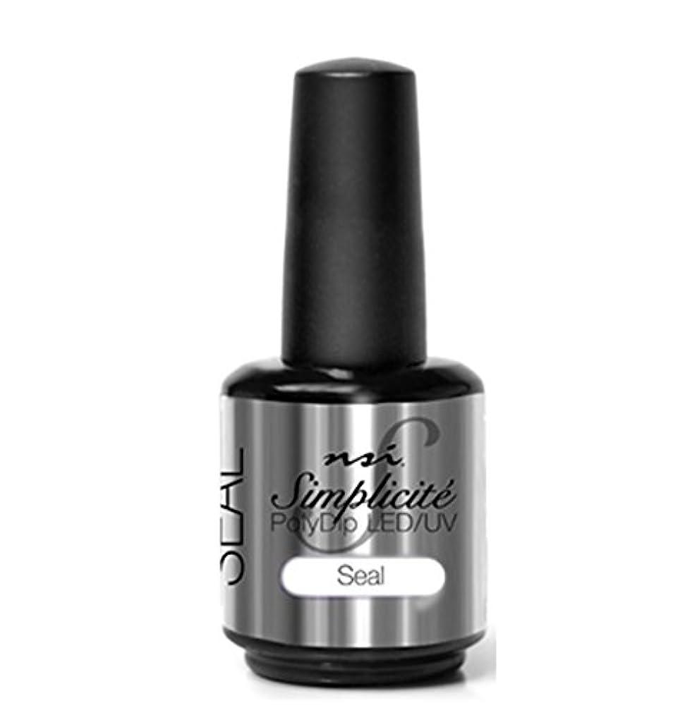 半球震え授業料NSI - Simplicité PolyDip LED/UV Polish - Seal - 15 ml/0.5 oz