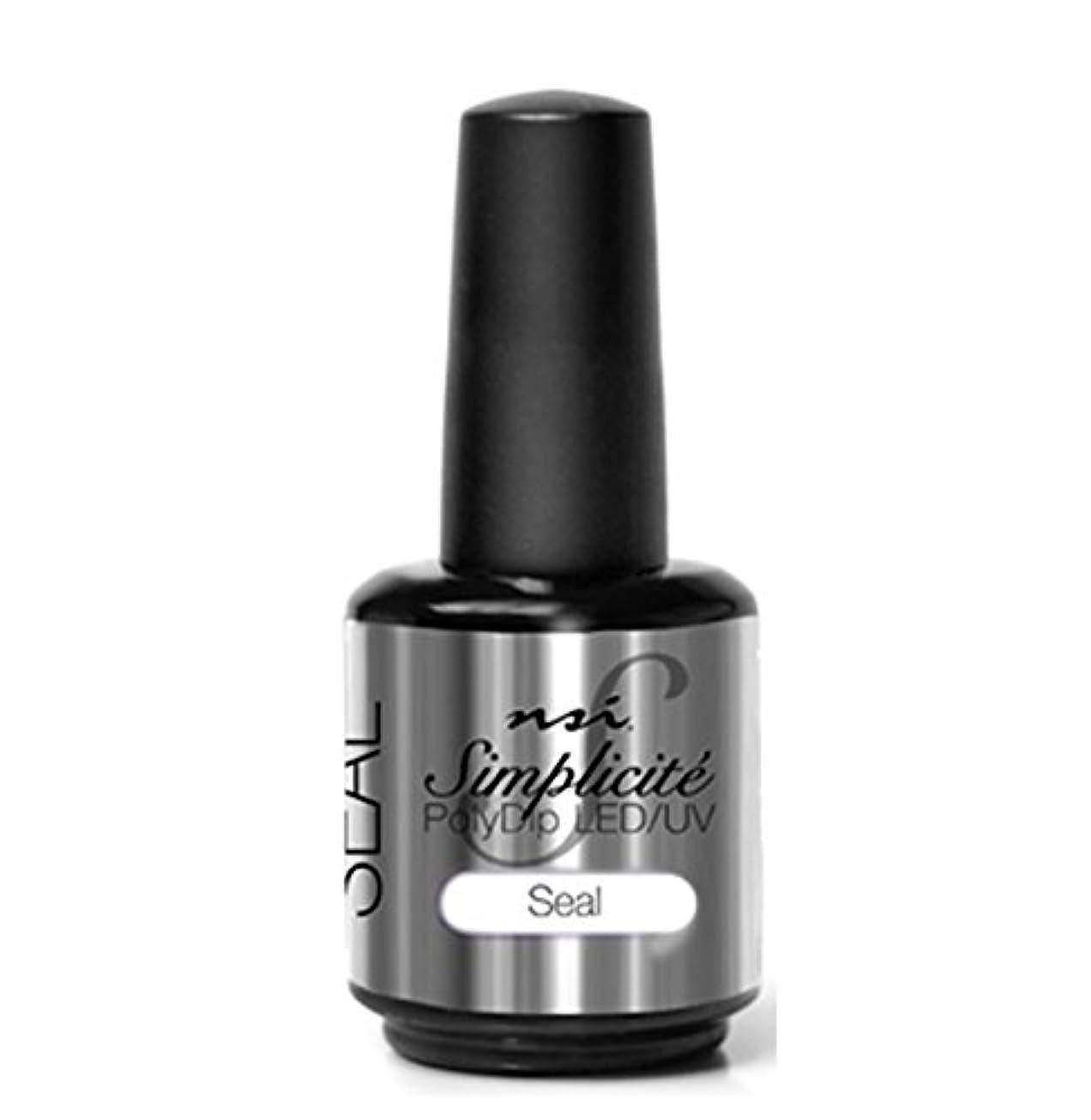 ブレンド早める敵意NSI - Simplicité PolyDip LED/UV Polish - Seal - 15 ml/0.5 oz
