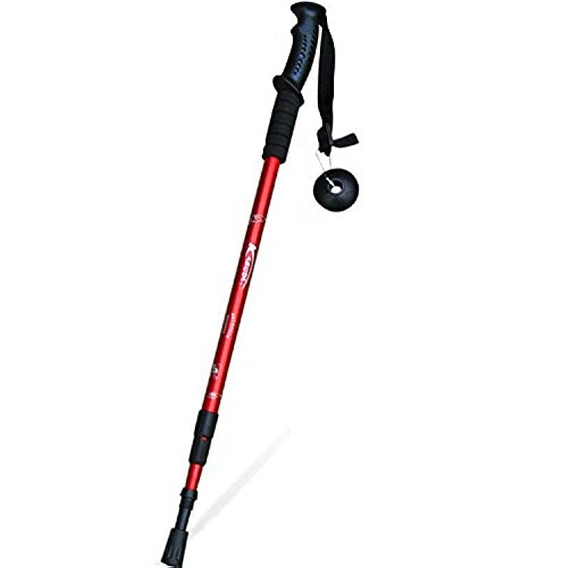 人キャンドル機会PovKeever ウォーキングポール トレッキングポール スティック 登山用杖 3段伸縮式 Tグリップ 6061アルミニウム合金 アンチショック機能付き 耐衝撃性 超軽量&高強度