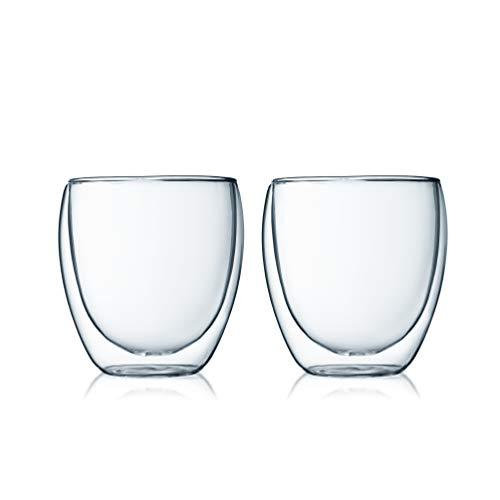 【正規品】 BODUM ボダム PAVINA ダブルウォールグラス 250ml (2個セット) 電子レンジOK 断熱 保温 保冷 タンブラー パヴィーナ 4558-10J