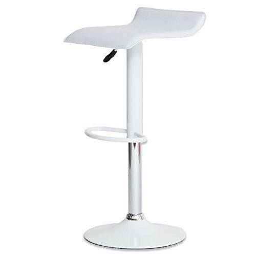 女性に人気 軽くて使いやすいカウンターチェア 「ビビッド」 座面レザー調 軽量バーチェア(重さ約5kg) 昇降式 脚部も同色デザインで可愛いチェア ホワイト色