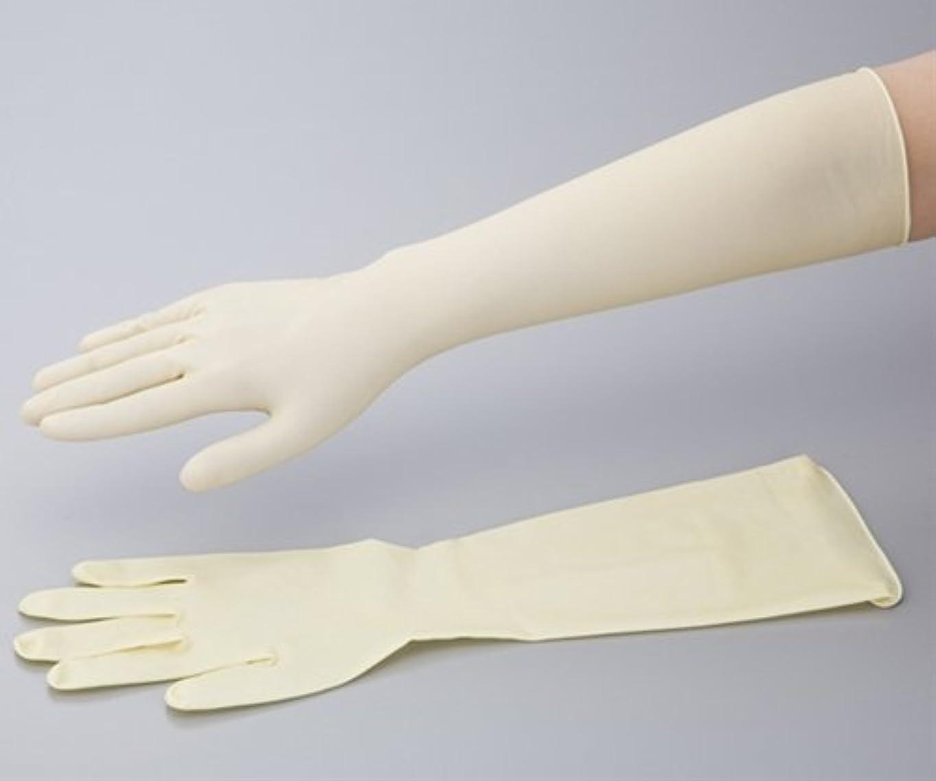 ラテックスロング手袋(スーパーロング)γ線滅菌済 S 50枚入り /0-6111-03