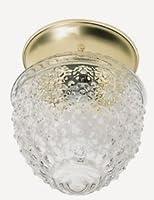 Nuvo照明77/ 1251つライトフラッシュマウント、真鍮仕上げwithクリアガラス