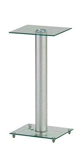 STARPLATINUM 良質 スピーカースタンド 【 フロアスタンド 】 組み立てカンタン 【 ブックシェルフ型スピーカー対応 】 SPセッタースタンドBS200 クリア/シルバー 2台セット