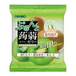 【オリヒロ】ぷるんと蒟蒻ゼリーパウチ キウイ(20g×6個)×12