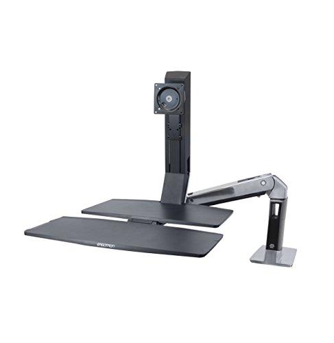 エルゴトロン WorkFit-A 座位・立位両用 ワークステーション シングルディスプレイ用 総荷重9.1kgまで 24-317-026