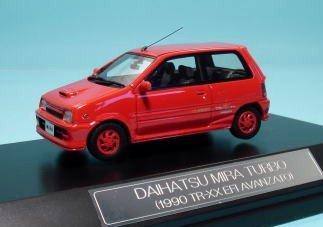 ハイストーリ 1/43 DAIHATSU ミラ ターボ TR-XX (1990年式) レッド