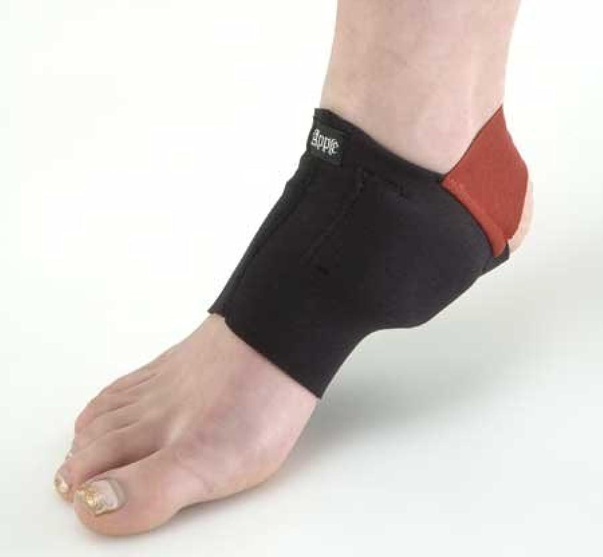 つかの間修士号不健康有痛性外けい骨用サポーター左足 ブラック Sサイズ(甲周り20cm~22cm)
