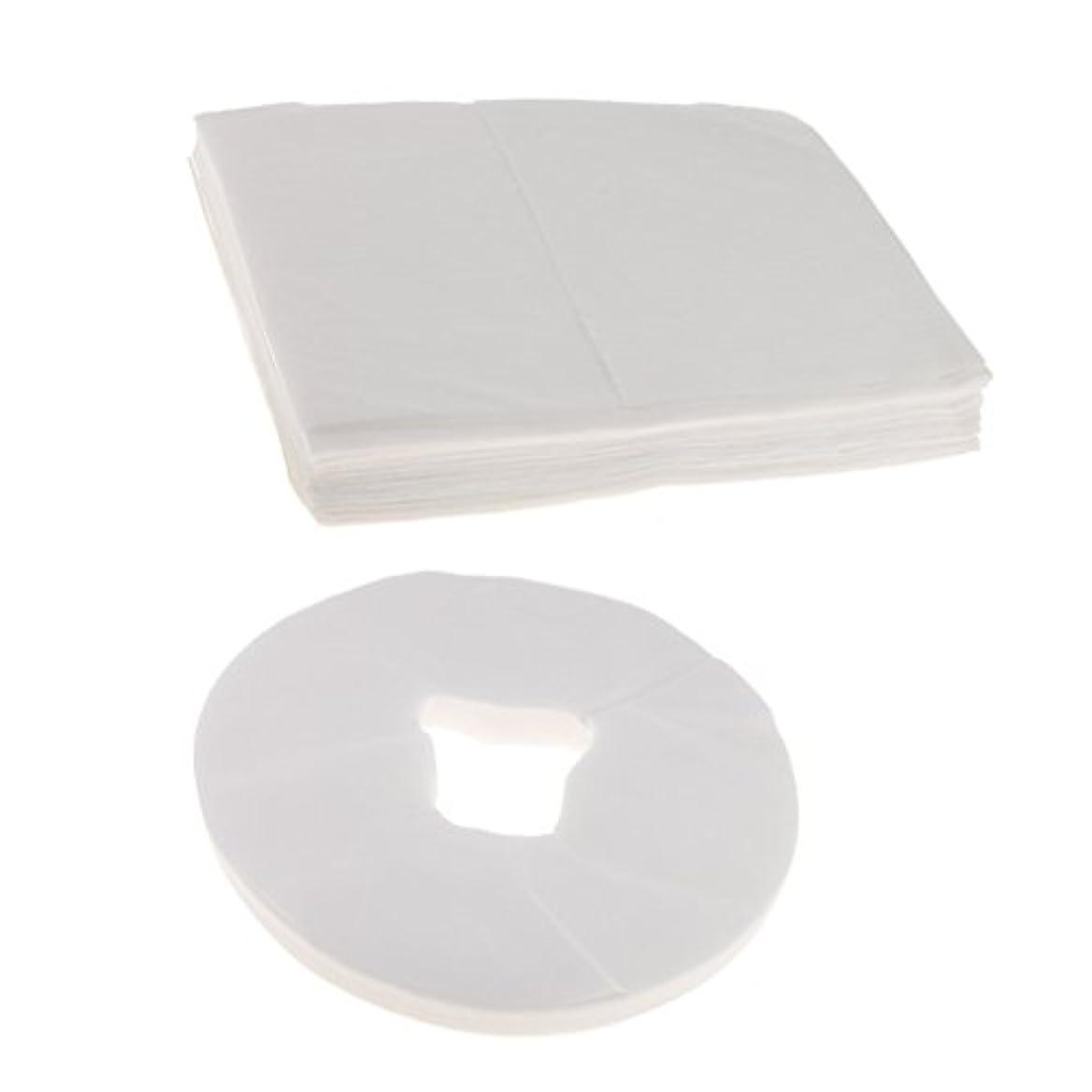 修理工フラスコカフェテリアCUTICATE 100ホワイト使い捨てマッサージテーブルフェイスクレードルクッションカバー+10ベッドシーツ