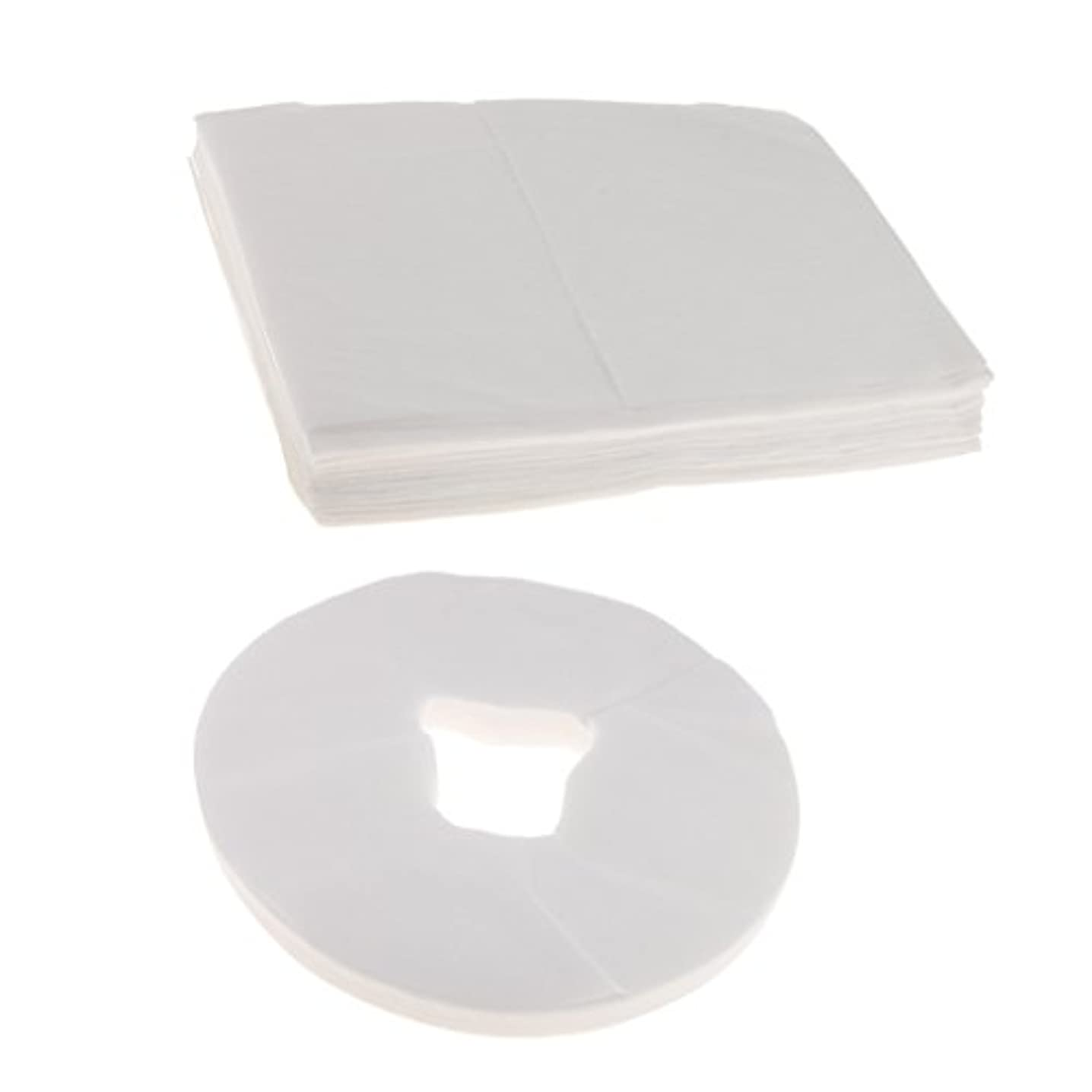 ライド中央値指紋100ホワイト使い捨てマッサージテーブルフェイスクレードルクッションカバー+10ベッドシーツ