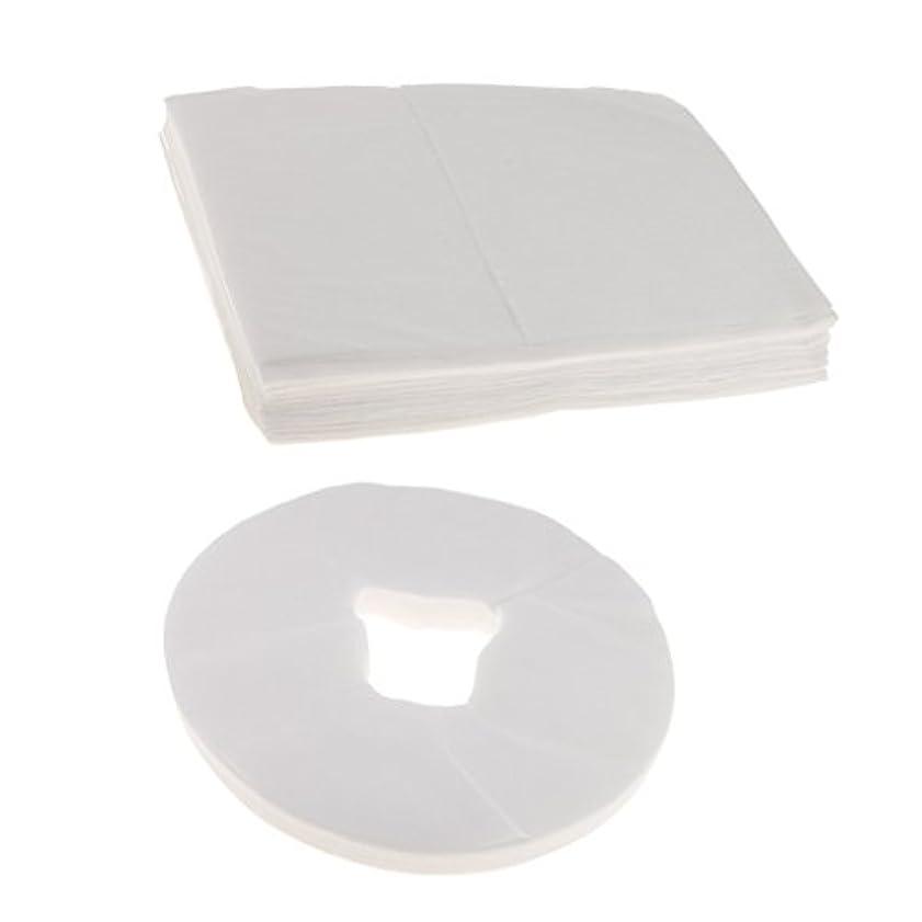 前任者水銀のシフト100ホワイト使い捨てマッサージテーブルフェイスクレードルクッションカバー+10ベッドシーツ