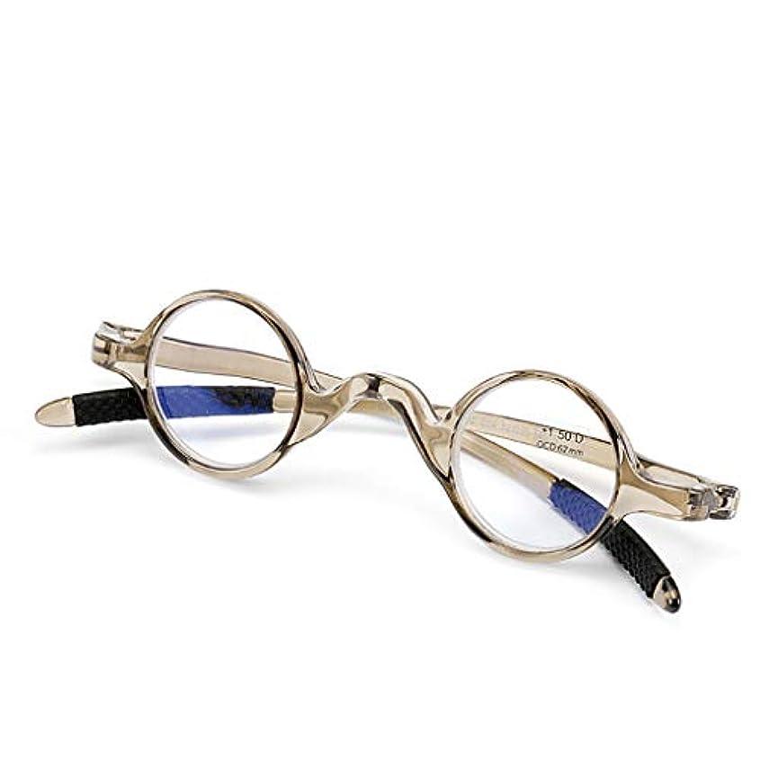 奨励分析する自信があるYiYi老眼鏡 スモールラウンドレトロ老眼鏡メンズレディーススプリングヒンジリーダー、3色(+1.0から+3.0)