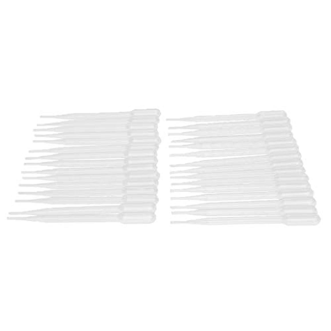 貸す寛容なダーリンdailymall 30ピース/個使い捨てプラスチックトランスファーピペット、エッセンシャルオイルと科学研究所に適したキャリブレーションドロッパー-0.2ml 1ml 3ml - 3ML