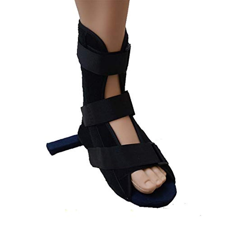クリップそれらファウル医療足骨折石膏の回復靴の手術後のつま先の靴を安定化骨折の靴を調整可能なファスナーで完全なカバー,M