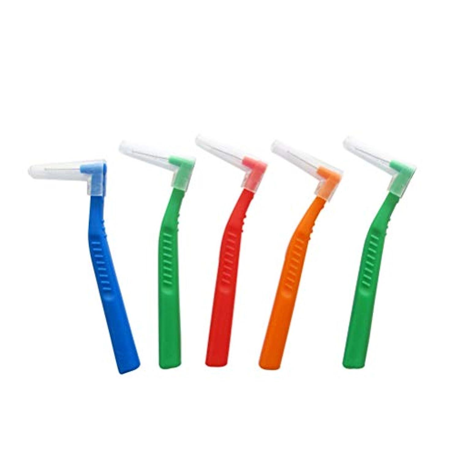 栄養反対リブSUPVOX 歯間ブラシ クリーナー l字型 歯間清掃 歯科 口腔ケアツール 5本入(ランダムカラー)