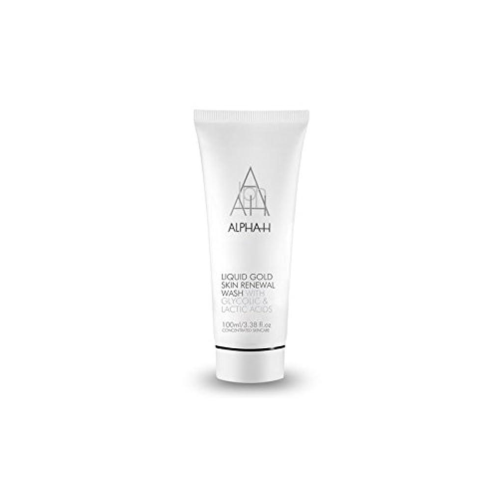 直接以来時期尚早Alpha H Gold Skin Renewal Wash (100ml) (Pack of 6) - アルファのゴールドスキンリニューアルウォッシュ(100ミリリットル) x6 [並行輸入品]