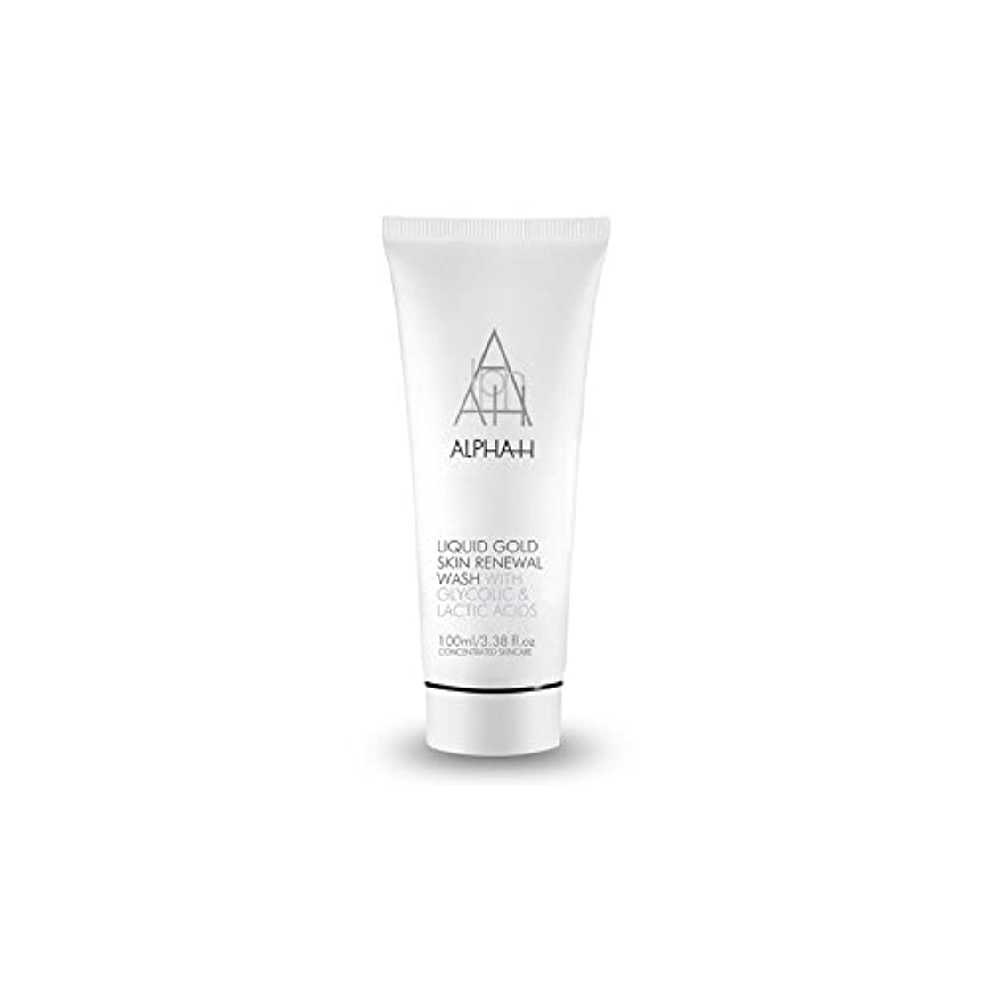 立法ショッキング生Alpha H Gold Skin Renewal Wash (100ml) (Pack of 6) - アルファのゴールドスキンリニューアルウォッシュ(100ミリリットル) x6 [並行輸入品]