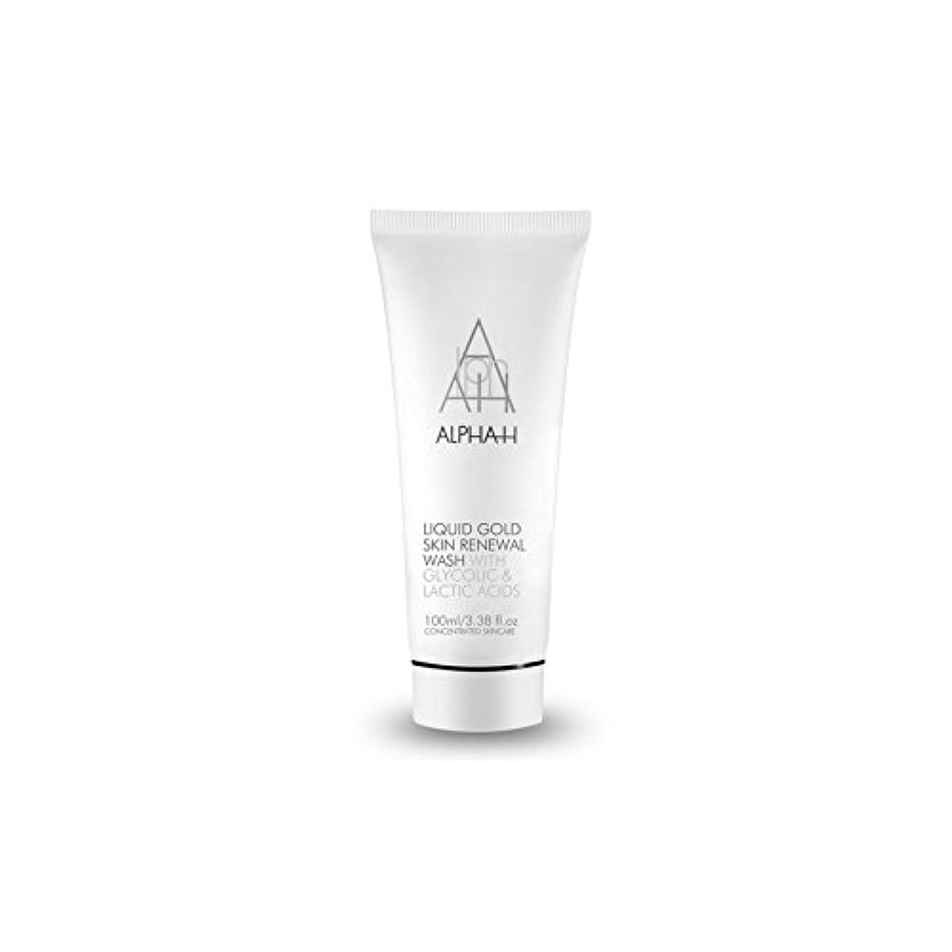 合体正統派リッチアルファのゴールドスキンリニューアルウォッシュ(100ミリリットル) x4 - Alpha H Gold Skin Renewal Wash (100ml) (Pack of 4) [並行輸入品]