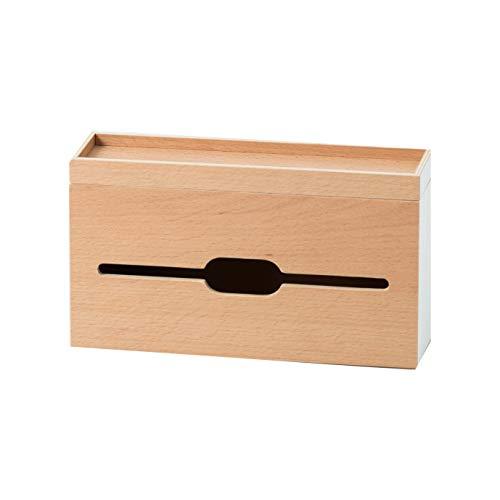 RoomClip商品情報 - ideaco (イデアコ) ティッシュ&ペーパータオルケース ホワイト 幅27.5cmx高さ16cmx奥行8cm ルーフペーパーボックス スリム