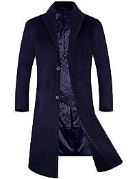 APTRO(アプトロ)メンズ コート チェスターコート ウール 中綿入り 暖かい ロング丈 通勤 紳士服 冬コート オシャレ ビジネスコート