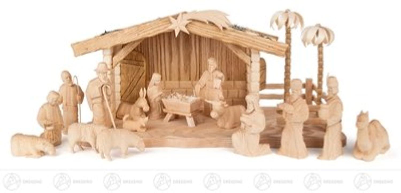 馬小屋が付いている誕生そして付属品の誕生図は (18) x の深さ 50 cmx27 cmx25 cm の鉱石山のクリスマスの装飾のテーブルの装飾の幅 X の高さを切り分けました