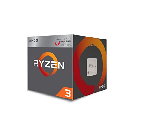 AMD CPU Ryzen 3 2200G with Wraith Stea...