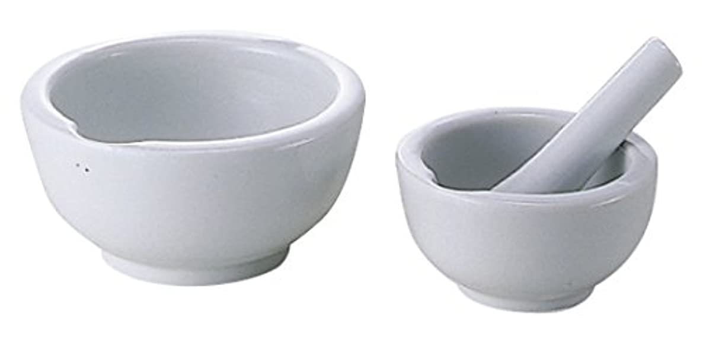 慢な信号祈る乳鉢(瀬戸物)乳棒付 60MM 松吉医科器械 08-2660-01