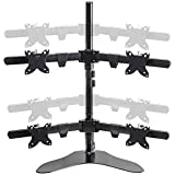 Monoprice Quad Monitor Free Standing Desk Mount for 15~30in Monitors