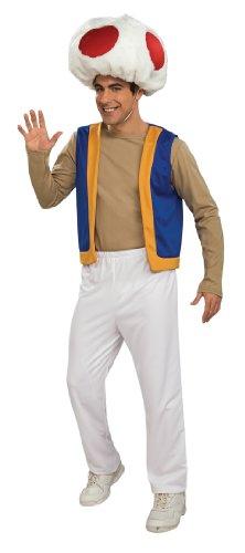 Super Mario Bros. - Toad Adult Costume スーパーマリオブラザーズ - ヒキガエル大人用コスチューム♪ハロウィン♪サイズ:Standard