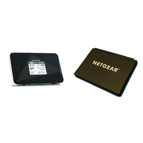 NETGEAR WiFi LTE モバイルルーター SIMフリー 802.11 a/b/g/n グローバル対応 AirCard AC785-100JPS + AC785用リチウムイオンバッテリー