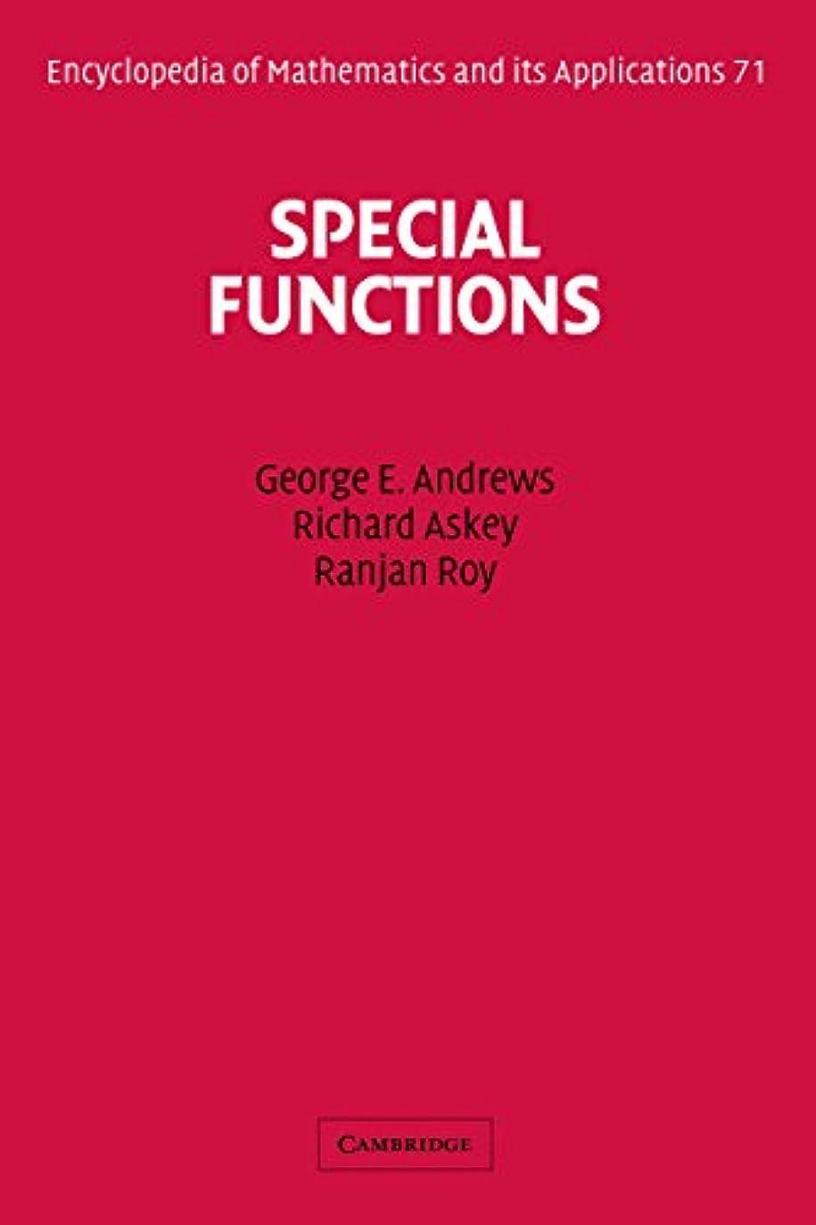 ワーカー昇進すぐにSpecial Functions (Encyclopedia of Mathematics and its Applications Book 71) (English Edition)