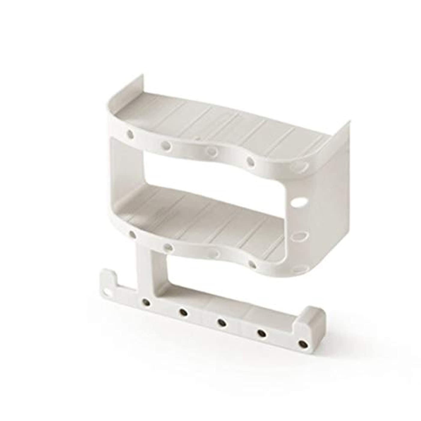 格差利用可能霊シームレスなステッカータオルボックストイレットペーパーボックストイレの防水トイレットペーパーボックスプラスチック吸引カップペーパータオルホルダー-ホワイト