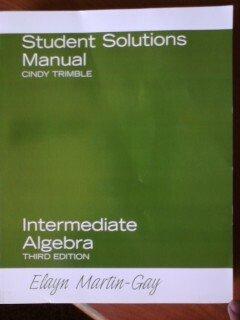 Download Student Solutions Manual for Intermediate Algebra 013219595X