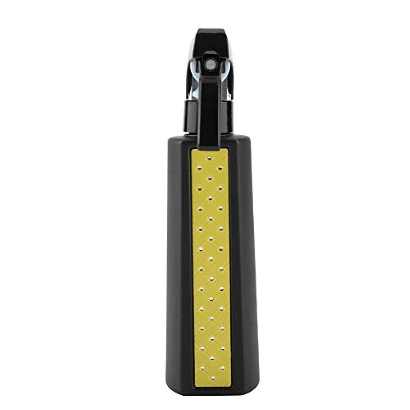 魅力アーティキュレーション先のことを考える散水用ボトル, ヘアスプレー300ミリリットル詰め替え用多目的マットヘアスプレーボトル理髪理髪ツール散水缶 (Yellow)
