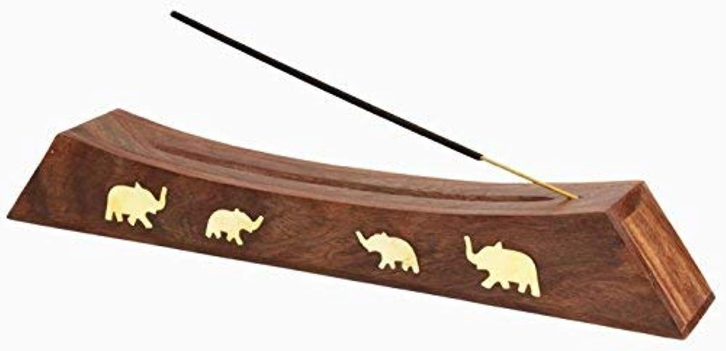 払い戻し最大死すべきAheli Wooden Handmade Incense Stick Holder with Storage Compartment - Eco Friendly Spiritual [並行輸入品]