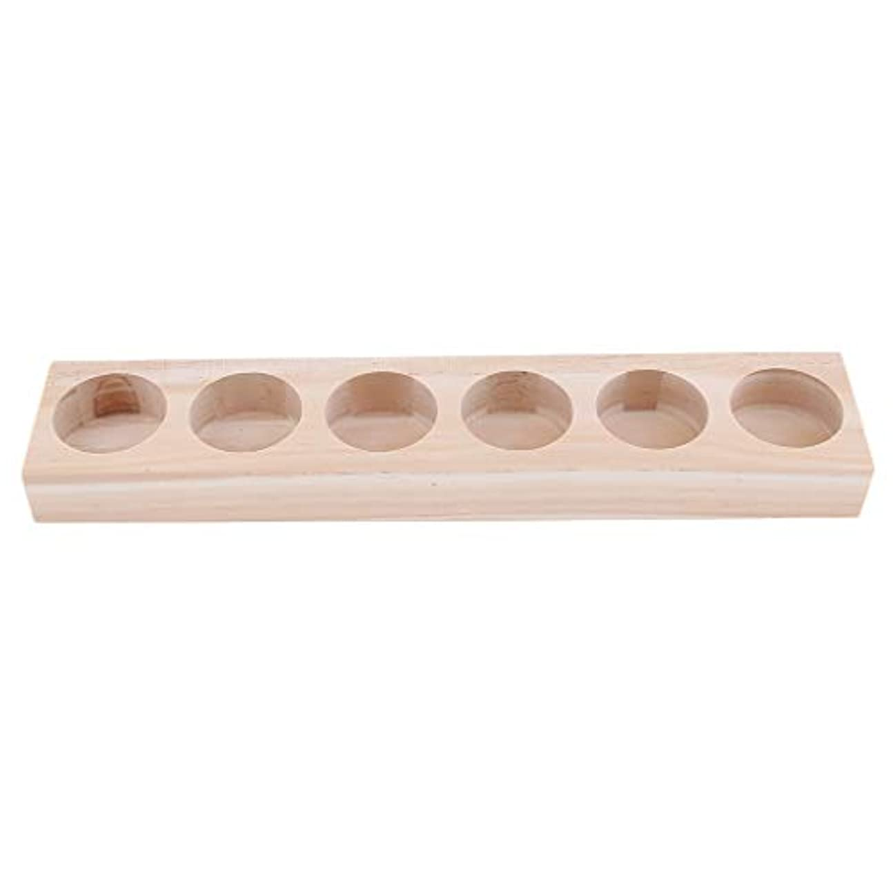 いつかコックステーキD DOLITY 6本用 サロン 美容室 エッセンシャルオイルホルダー 木製 展示 ラック 30ミリボトル対応