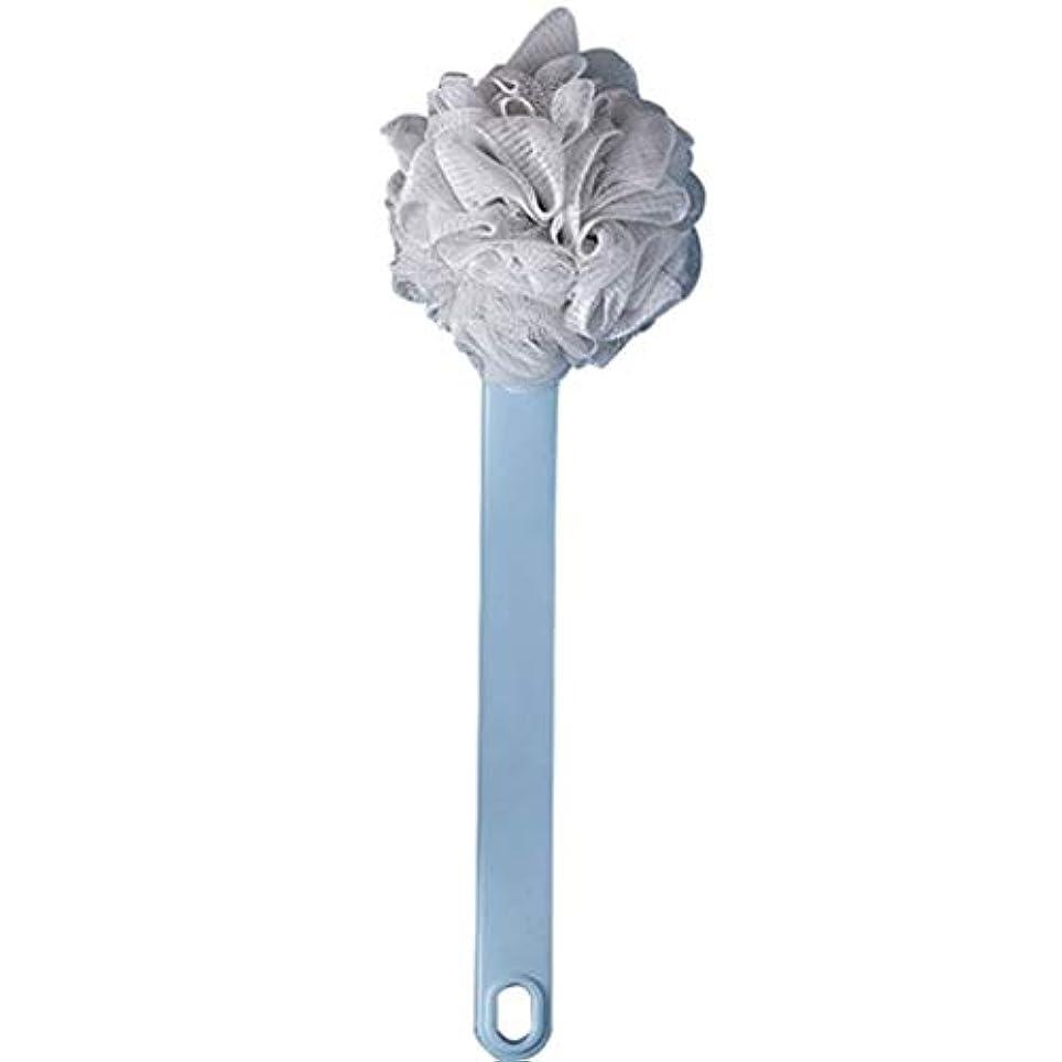 シエスタ申請中骨の折れるバスブラシバックブラシロングハンドルやわらかい毛髪バスブラシバスブラシ角質除去クリーニングブラシ (Color : Light blue, Size : 38*14CM)