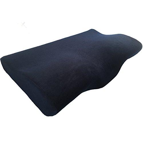 Destyle 枕 安眠 人気 肩こり 低反発 いびき防止 頸椎サポート 洗える ピロー 安眠枕 低反発枕 健康枕 (ダークネイビー)