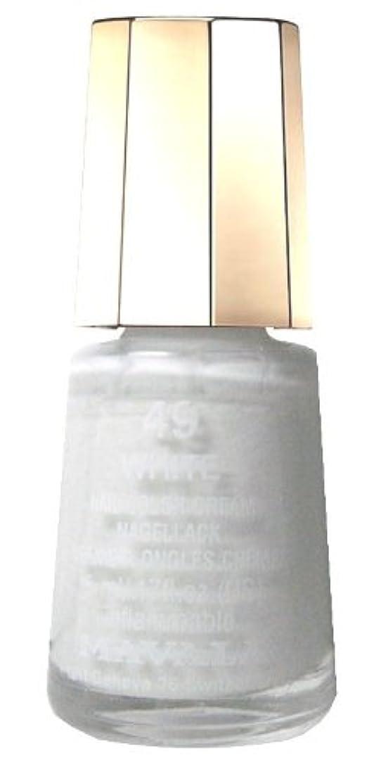 電気のクレデンシャル抜け目のないマヴァラネイルカラー 49 ホワイト