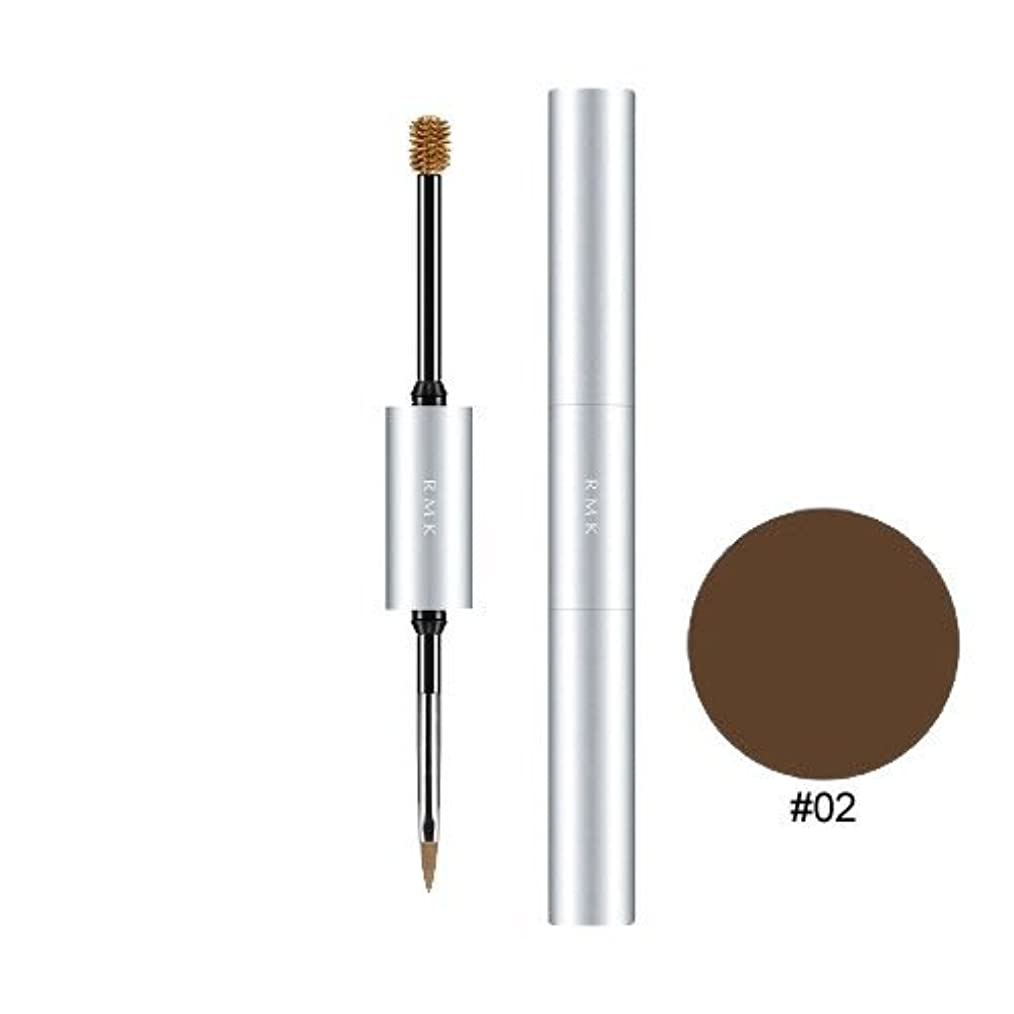 平行ブランド名電池【RMK (ルミコ)】Wアイブロウカラーズ #02 マロンブラウン 5.4g