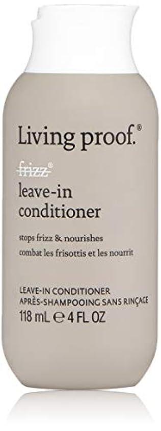 マーチャンダイザー叱る構成員Living ProofFrizz Leave-In Conditioner (For Dry or Damaged Hair)118ml/4oz[並行輸入品][海外直送品]