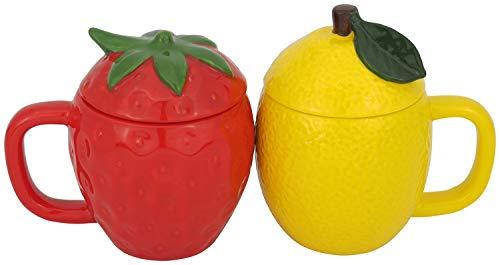 サンアート かわいい食器 「 野菜と果物シリーズ 」 いちご レモン マグカップ 140ml SAN2916