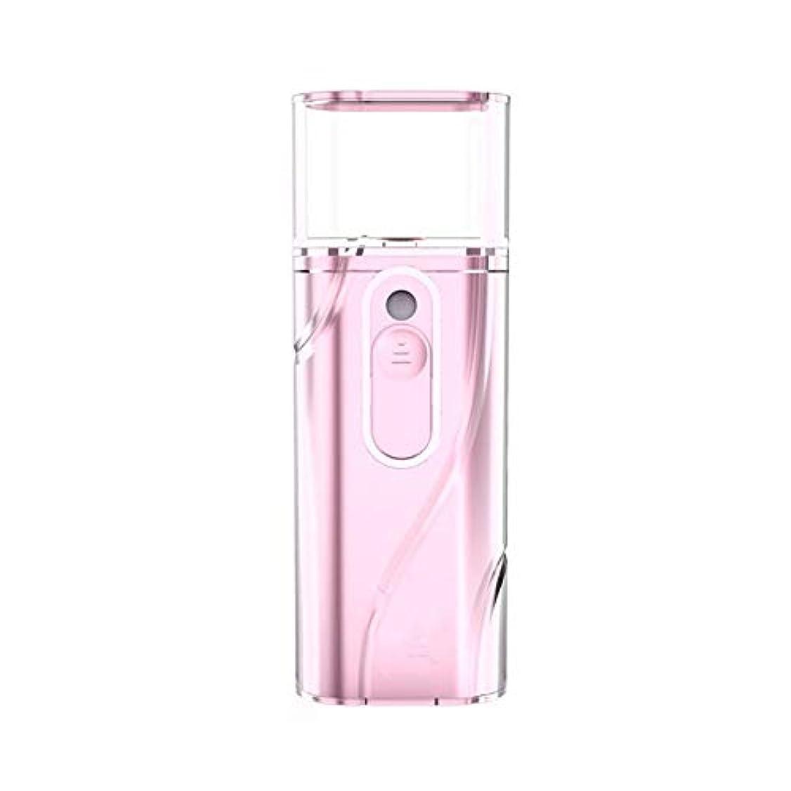 未払い制裁宿泊保湿スプレー保湿ナノスプレー大型スプレー蒸し面保湿充電トレジャー便利な保湿美容機器 (Color : Pink)