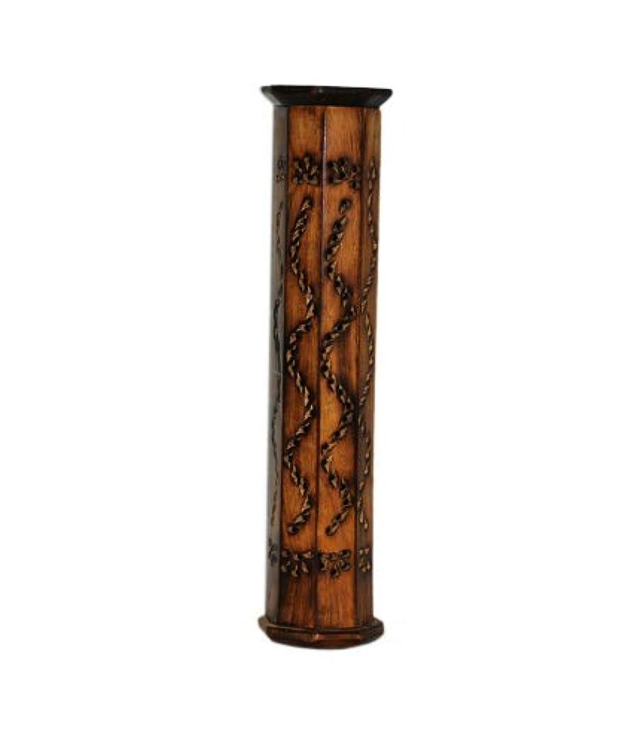 ながらアルプス子犬PINDIA Incense Box Sticks Holder AGARBATI AGARBATTI DHOOP Doop Stand LOBAN Wood Tower